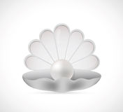 Shell pearl cartoon Stock Photography