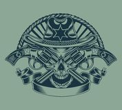 Illustration of Sheriff's skull Royalty Free Stock Photos