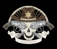 Illustration of Sheriff's skull Stock Images