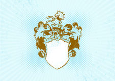 Illustration of shield. Vector Royalty Free Stock Photography