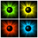 Illustration of shining color balls Royalty Free Stock Images