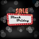 Illustration of shining frame for black friday sale Stock Photos