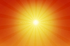 The illustration of the shining sun and rays Royalty Free Stock Photography