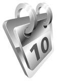 Illustration of shiny metal steel desk calendar icon Stock Image