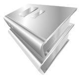 Illustration of shiny metal steel icon Stock Photo