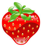 Illustration of shiny strawberry icon Royalty Free Stock Photography