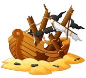 Illustration of shipwreck Royalty Free Stock Image
