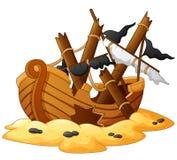 Illustration of shipwreck Royalty Free Stock Image