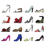 Illustration of shoes. Stock Photography