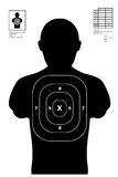 Illustration of a shooting target / shooting range Royalty Free Stock Images