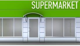 Illustration of shop or minimarket kiosk exterior Royalty Free Stock Image