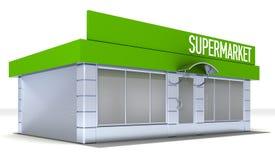 Illustration of shop or minimarket kiosk exterior Stock Photos