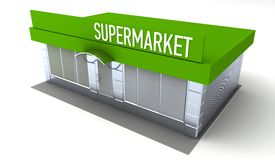 Illustration of shop or minimarket kiosk exterior Stock Photography