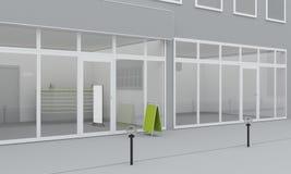 Illustration of shop or office facade. Exterior Stock Photo