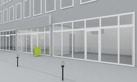 Illustration of shop or office facade. Exterior Stock Image