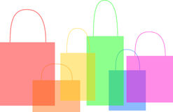 Illustration of Shopping bags Royalty Free Stock Photography