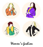 Illustration showing a beautiful womensΠRoyalty Free Stock Photo