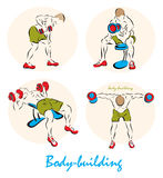 Illustration showing a Body-building Royalty Free Stock Images