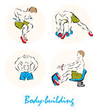 Illustration showing a Body-building Royalty Free Stock Image