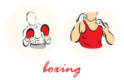 Illustration showing a boxers Royalty Free Stock Photography