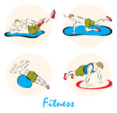 Illustration showing a Fitness Stock Photo