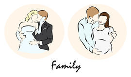 Illustration showing a Lovers of peopleΠRoyalty Free Stock Photo