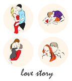 Illustration showing a Lovers of people Stock Photos