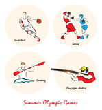 Illustration showing a Summer Olympic Sports Royalty Free Stock Photo