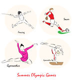Illustration showing a Summer Olympic SportsΠRoyalty Free Stock Image