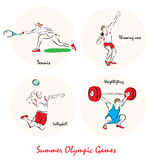 Illustration showing a Summer Olympic SportsΠStock Image