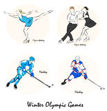 Illustration showing a Winter Olympic GamesΠStock Photo