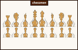 Illustration shows a Chess figures Royalty Free Stock Image