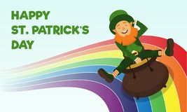 Colourful illustration dedicated to the holiday of Saint Patrick s Day stock illustration
