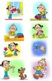 Housework for children vector illustration