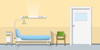 Illustration of a sickroom Royalty Free Stock Image