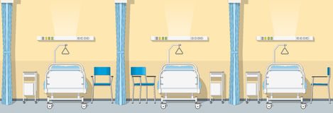 Illustration of a sickroom, seamless Royalty Free Stock Image