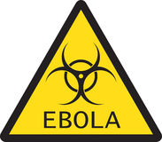 Illustration of sign of Ebola biological hazard Stock Images