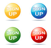 Sign up button Stock Photos