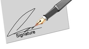 Illustration of signature Royalty Free Stock Images