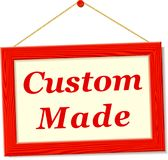Signboard with custom made text. Illustration of signboard with custom made text Stock Photography