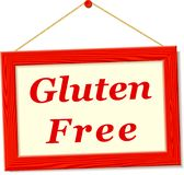 Signboard with gluten free text Stock Photo