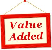 Signboard with value added text. Illustration of signboard with value added text Royalty Free Stock Images