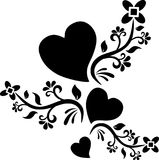 Heart shape design tattoo royalty free stock photography