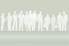 Business people. An illustration with silhouettes of business people Stock Photos