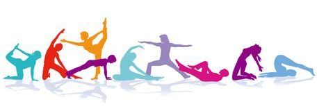Sports and gymnastics illustration Royalty Free Stock Image