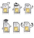 Illustration of a sim cards set Stock Photography