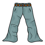 Illustration of a simple cartoon pants Royalty Free Stock Photography
