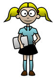 Illustration of a simple cartoon student Stock Image