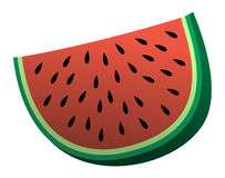 Illustration of a simple cartoon watermelon Stock Photos