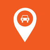 Illustration simple d'icône de marqueur de GPS de voiture Photo stock